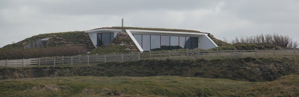 Earth covered glass fronted house1