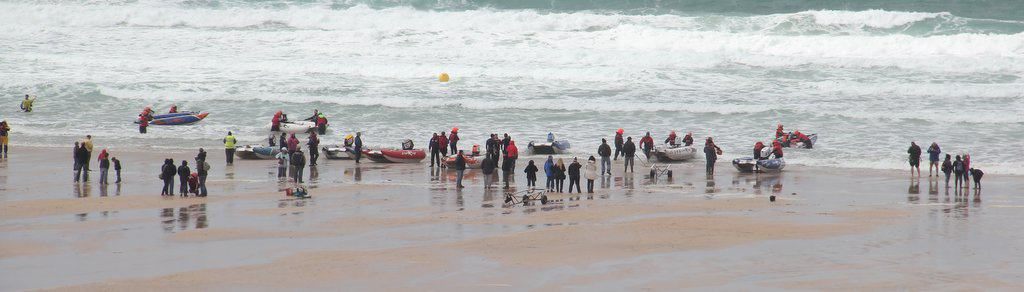 Surfers at Fistral Beach