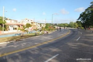 Cuban motorway being white washed