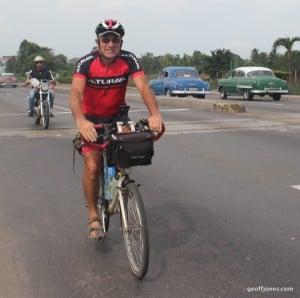 Ride to Havana airport after 1463 miles of Cuba biking
