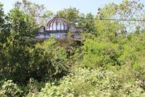 Hindu temple returning to nature
