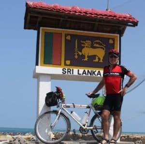 Geoff Jones at Pedro Point with bike