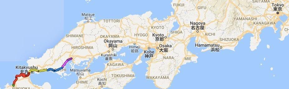 Three days biking from Hof to  Higashihiroshima upto lifeday 25,460