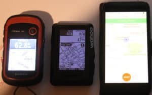 image of Etrex 20, Wahoo Elemnt, iPhone 7